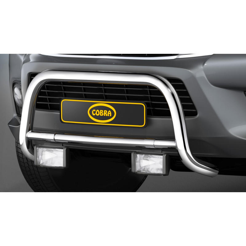 Pushbar 60mm Stainless Steel for Toyota Hilux Revo 2016-current