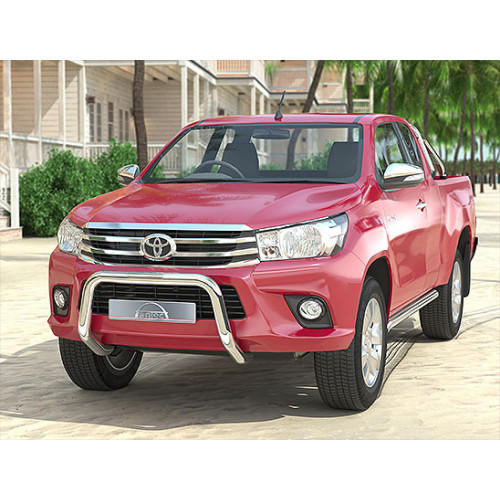 Pushbar 70mm Stainless Steel for Toyota Hilux Revo 2016-current