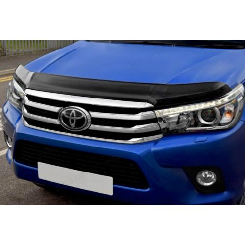 Dark Smoke Bonnet-Bug Shield Protector For Toyota Hilux 2016 Onwards