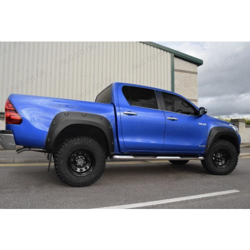 Wheel Arches In Matte Black With Rivets For Toyota Hilux Revo Double Cab 2016 Onwards