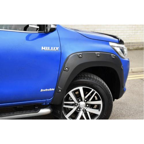 Arches and Rivets Matt Black (Invinceble & Invincible X) For Toyota Hilux 2018 On Facelift Double Cab