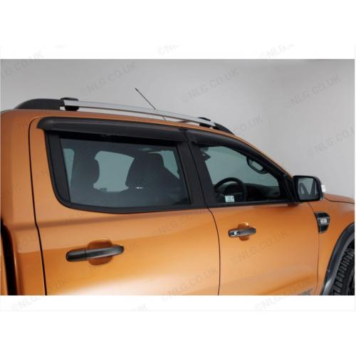 T6 and 4 Trux Quad Window Deflector Visors Set Of 4 For Ford Ranger 2016 Double Cab