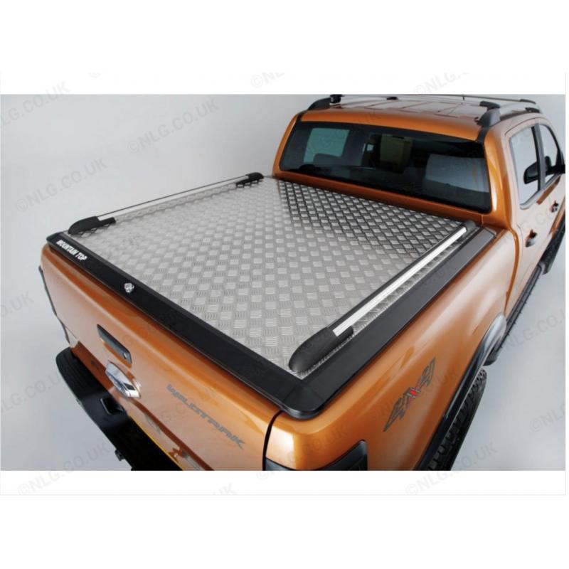 Mountain Top Chaquer Plate Load Bed Cover With Sports Rails For Ford Ranger 2019 On