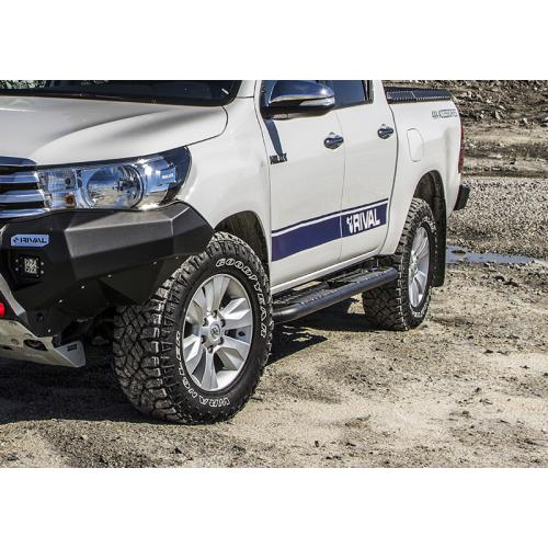 Steel Side Step Bar Rival For Toyota Hilux Revo 2015