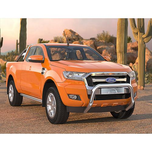 Pushbar 76mm Stainless Steel - Ford Ranger 2015