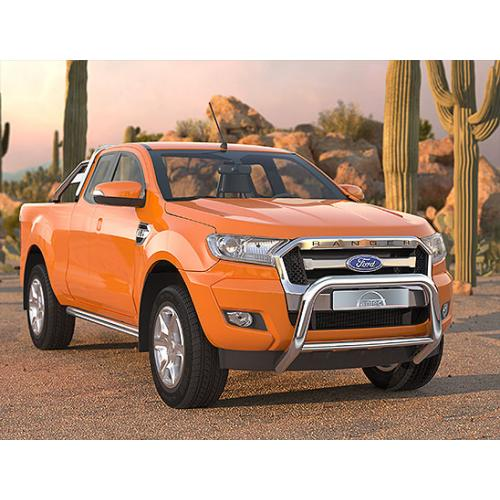 Pushbar 76mm Cross 51mm Stainless Steel - Ford Ranger 2015