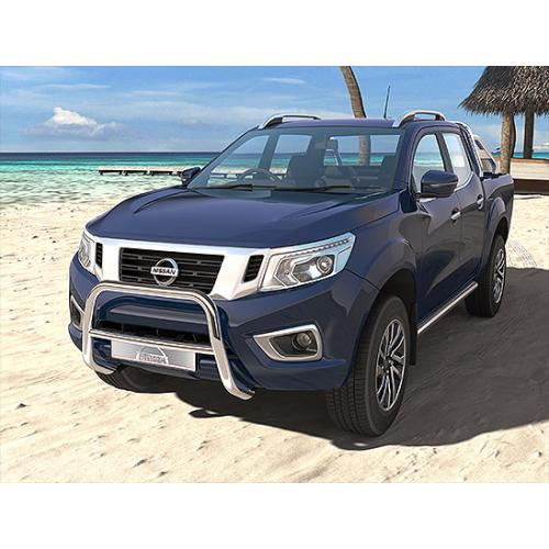 Pushbar 60mm Cross 42mm Stainless Steel - Nissan Navara 2015