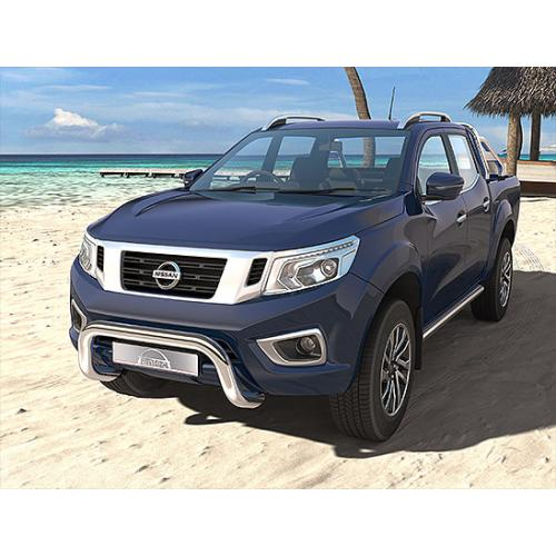 Pushbar 76mm Stainless Steel - Nissan Navara 2015