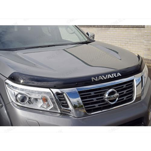 Dark Smoke Bonnet Guard With Logo - Nissan Navara NP300 2015