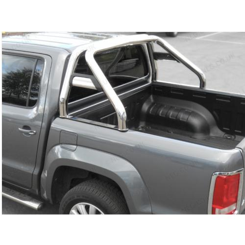 Single Hoop Roll Bar With Horizontal Support Tubes - VW Amarok V6 Double Cab