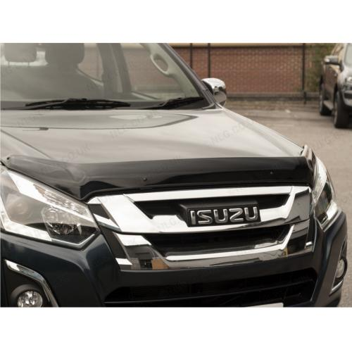 Dark Smoke Bonnet-Bug Shield Protector - Isuzu DMax