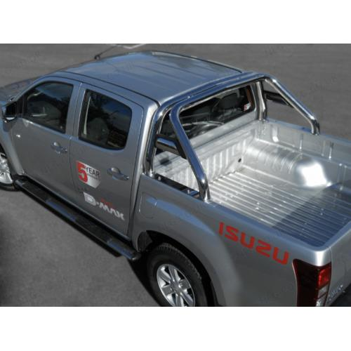 Single Hoop Roll Bar With Horizontal Support Tubes - Isuzu DMax Double Cab