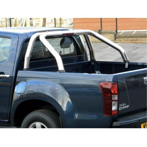 Stainless Steel Single Hoop Roll Bar - Isuzu DMax Double Cab