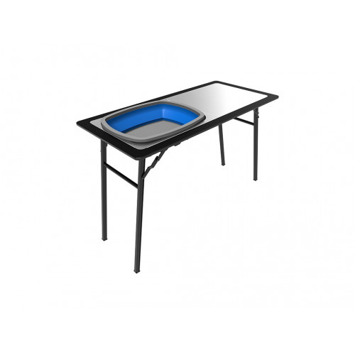 Pro Stainless Steel Prep Table with Foldaway Bassin